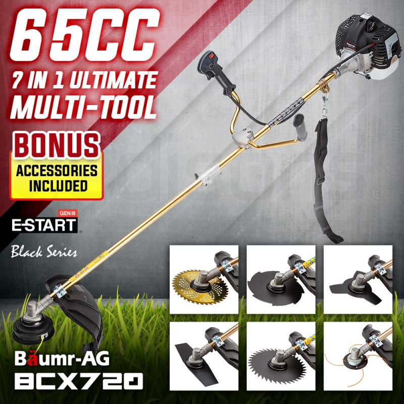 Baumr-AG 65CC Brushcutter Whipper Snipper Trimmer Brush Cutter Multi Pole Tool by Baumr-AG