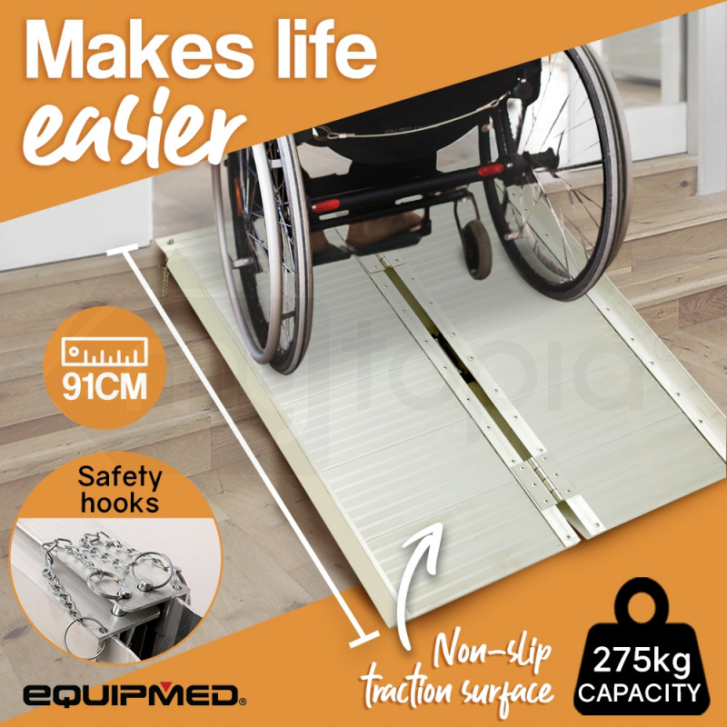 Wheelchair Mobility Ramp Scooter Ramps Aluminium Disabled Portable Access by Equipmed