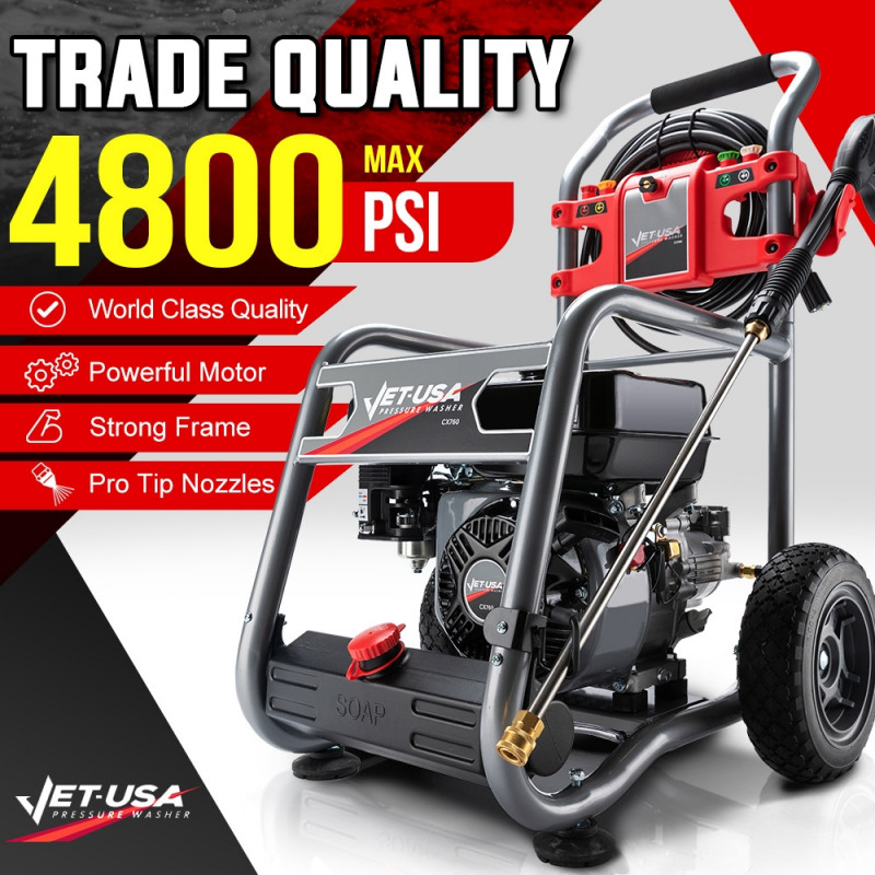 Jet-USA 4800PSI Petrol Powered High Pressure Washer- CX760 Gen IV by Jet-USA