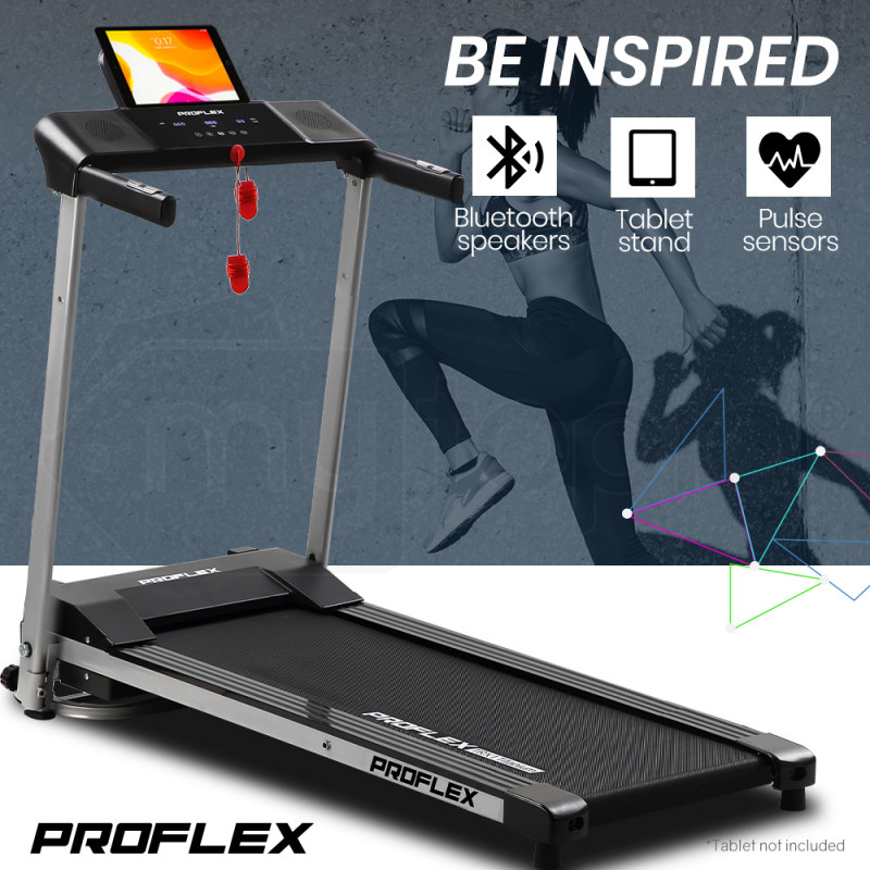 PROFLEX 1HP Compact Foldable Electric Treadmill   - TRX1 Titanium - Style 1 by Proflex