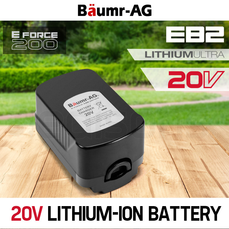 Baumr-AG  20V  Lithium Ion Battery Replacement- E Force 200 by Baumr-AG