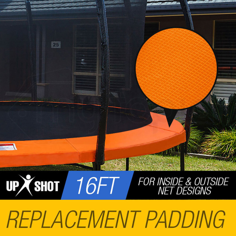 UP-SHOT 16ft Replacement Trampoline Pad Reinforced Springs Outdoor Safety Round Orange by Up-Shot