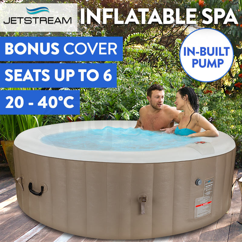 Jetstream Inflatable Spa Massage Portable Jacuzzi Hot Tub Outdoor Pool Bath Swim 6 Person by Jetstream