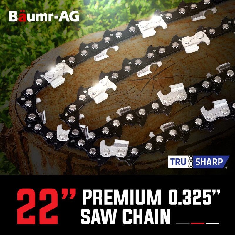 "Baumr-AG 22"" Premium 0.325"" Pitch Commercial Chainsaw Chain Replacement by Baumr-AG"