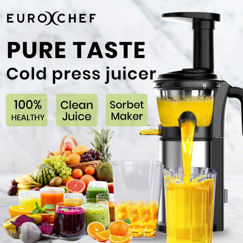 EUROCHEF Cold Press Slow Juicer, Whole Fruit Chute, with Sorbet function by EuroChef