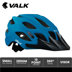 VALK Adjustable Mountain Bike Helmet 54-56cm Small Blue by Valk