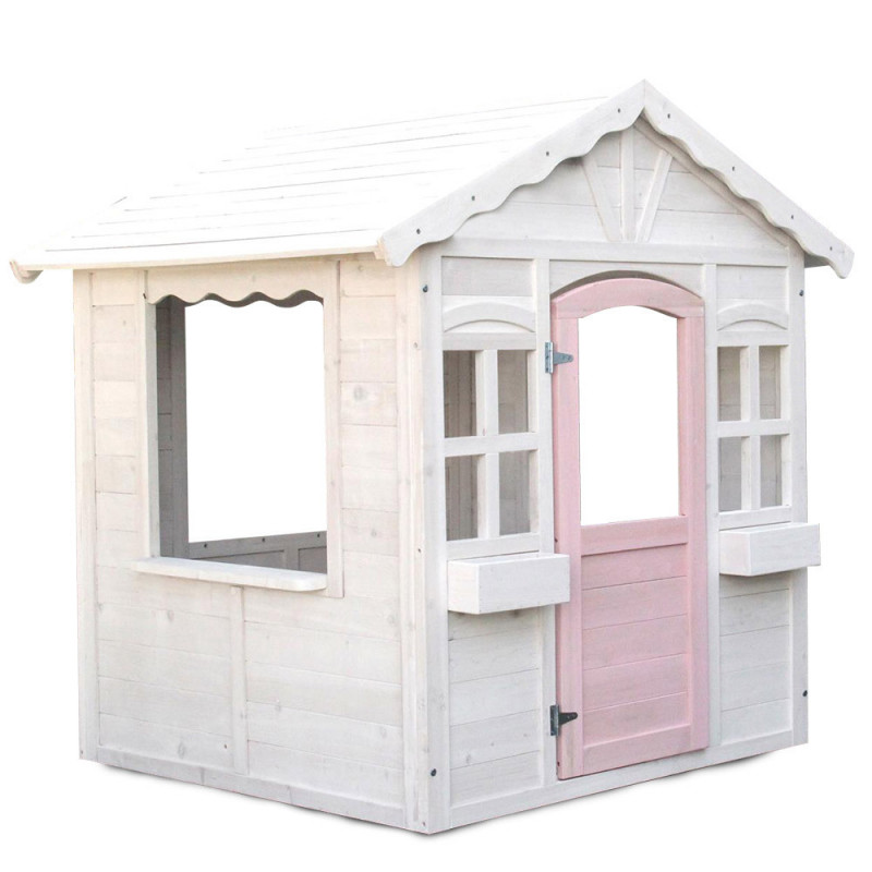 ROVO KIDS Cubby House Wooden Outdoor Playhouse Cottage Play Children Timber by Rovo Kids