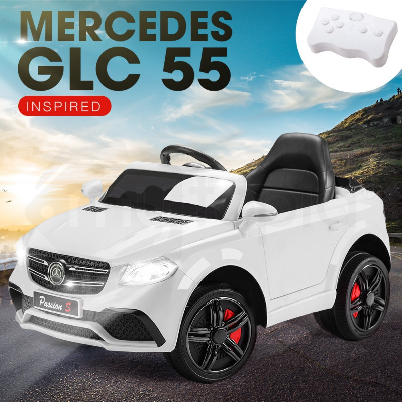 Rovo Kids White Mercedes GLC 55 12V Remote Control Electric Cars For Kids by Rovo Kids