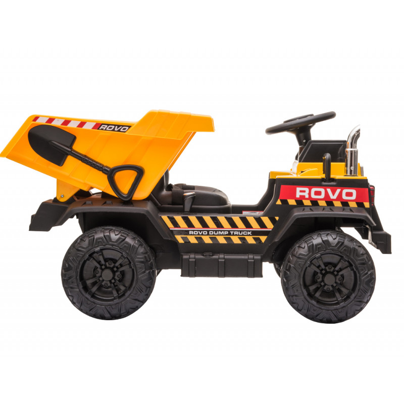 ROVO KIDS Electric Ride On Toy Dump Truck with Bluetooth Music - Yellow by Rovo Kids