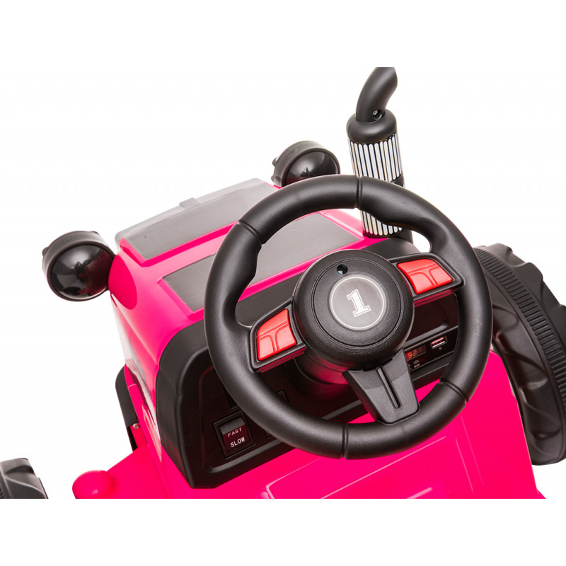 ROVO KIDS 12V Electric Battery Operated Ride On Tractor Toy, Remote Control, Pink						 by Rovo Kids