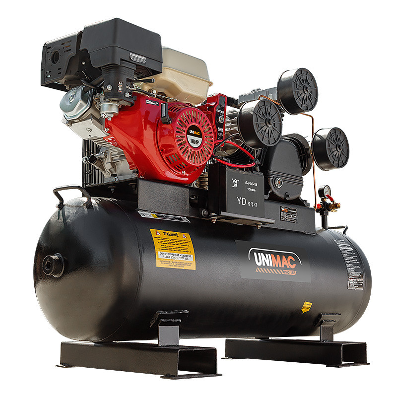 UNIMAC Industrial Petrol Air Compressor 115PSI 150L 18HP by Unimac