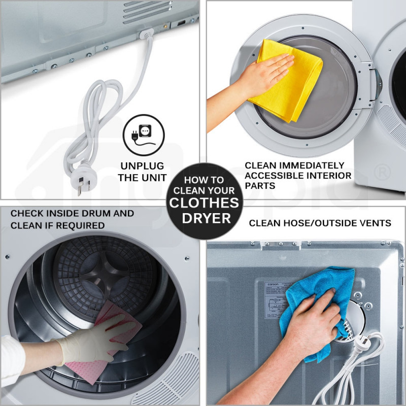 CARSON 4kg Clothes Dryer - 1200W Vented Tumble Drying Machine Front Loader by Carson