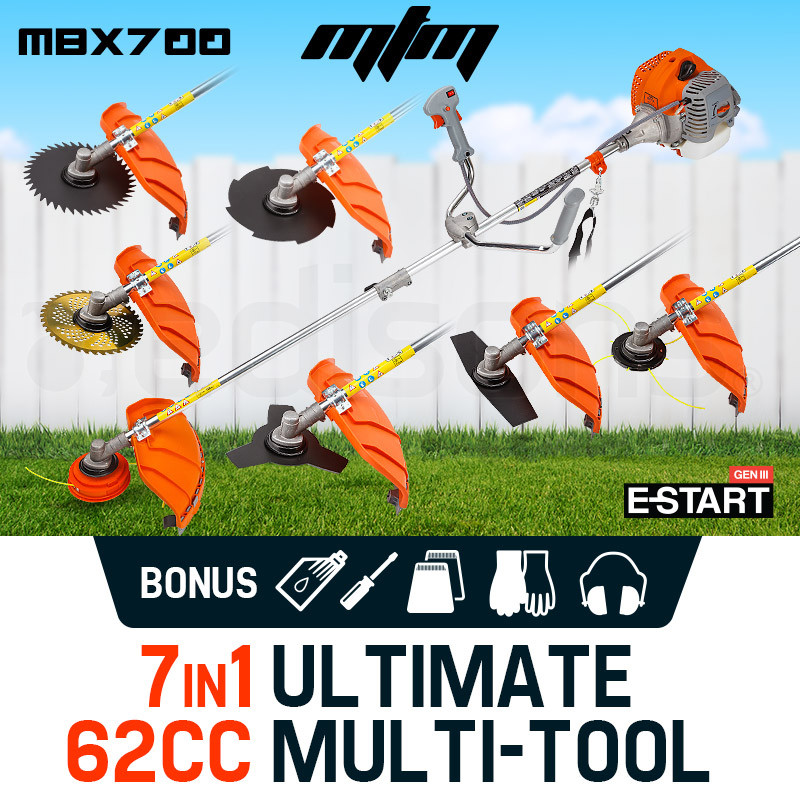 MTM 62CC Brush Cutter Whipper Snipper Trimmer Edger Brushcutter Multi Pole Tool by MTM