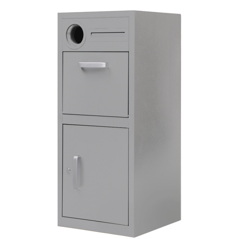 FORTIA Home Pillar Parcel Letter box for Mail and Drop Large Packages, Grey by Fortia
