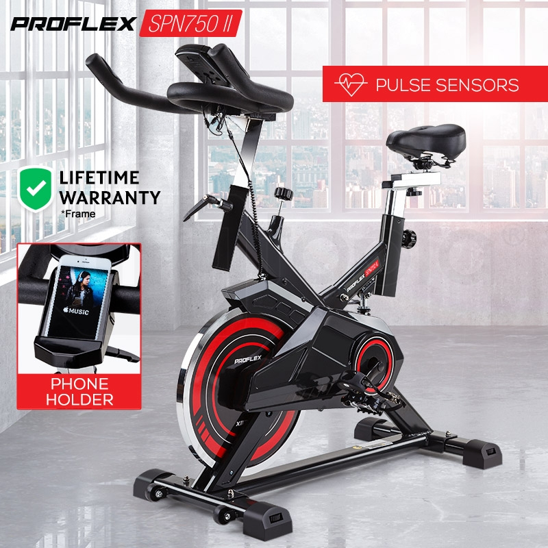 PROFLEX Commercial Spin Bike Flywheel Exercise Bike Red - SPN750 II