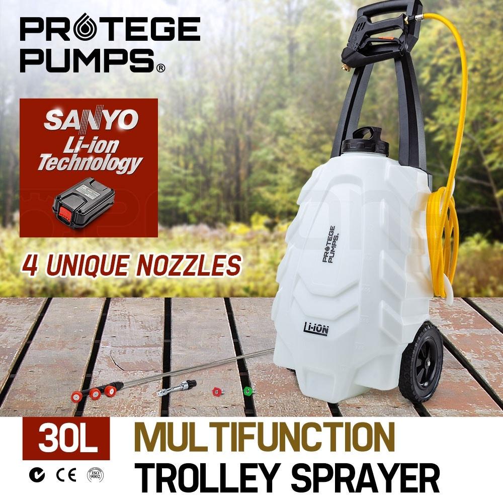 PROTEGE 30L Garden Weed Sprayer Multifunction Trolley Fertilizing Watering Farm