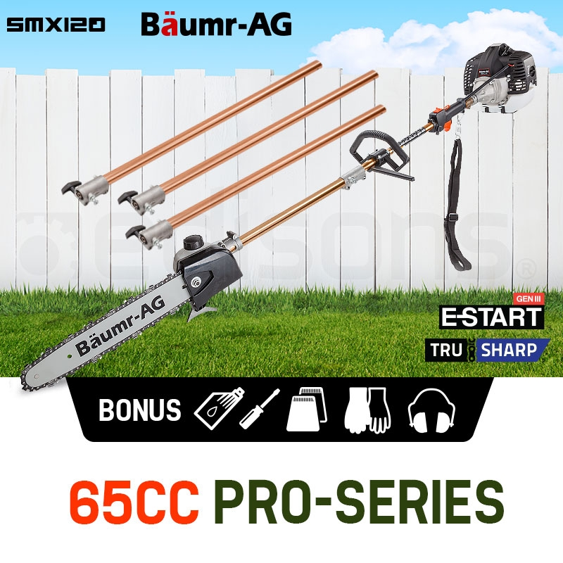 PRE-ORDER Baumr-AG 65CC Pole Chainsaw Petrol Chain Saw Brush Cutter Brushcutter Tree
