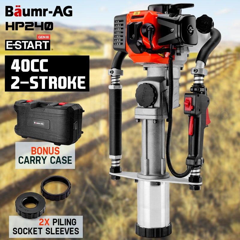 PRE-ORDER Baumr-AG Petrol Post Driver - 40CC 2-Stroke Pile Star Picket Rammer Fence