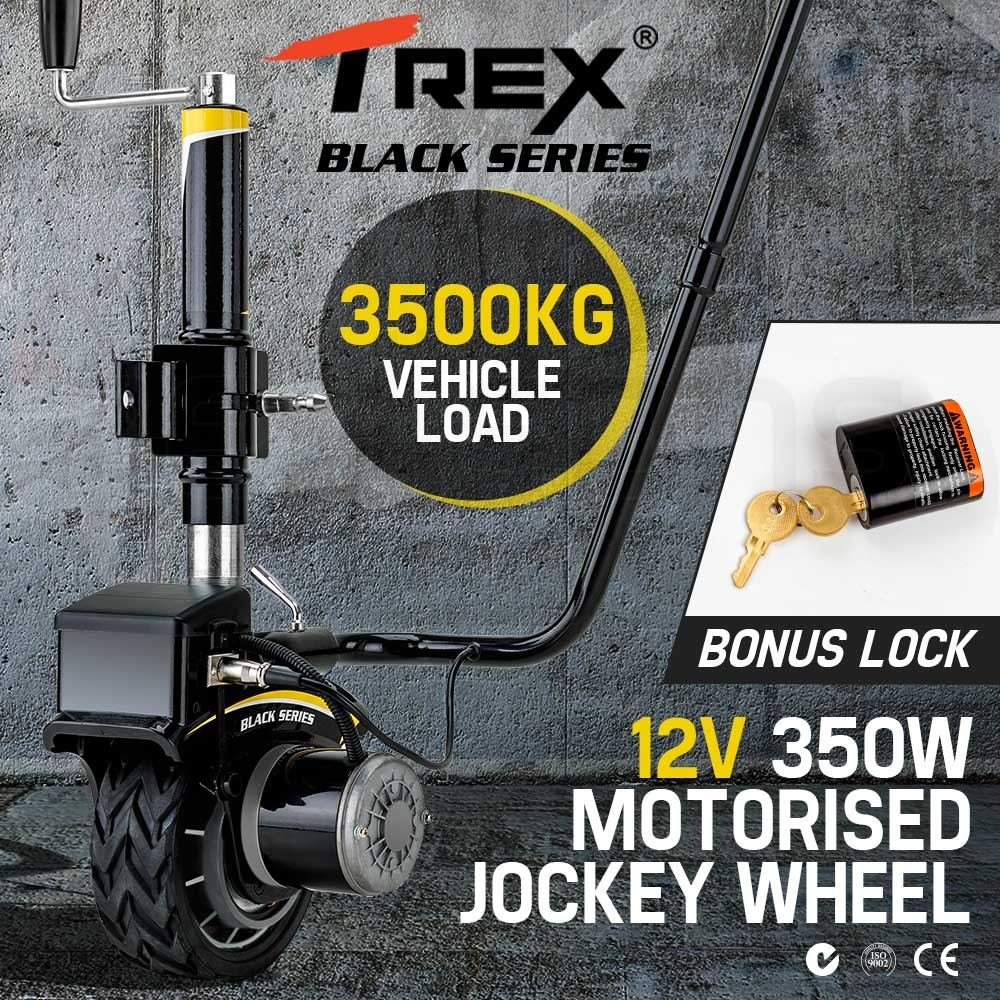 T-REX Motorised Jockey Wheel Electric Power Mover 12V 350W Caravan Trailer Boat