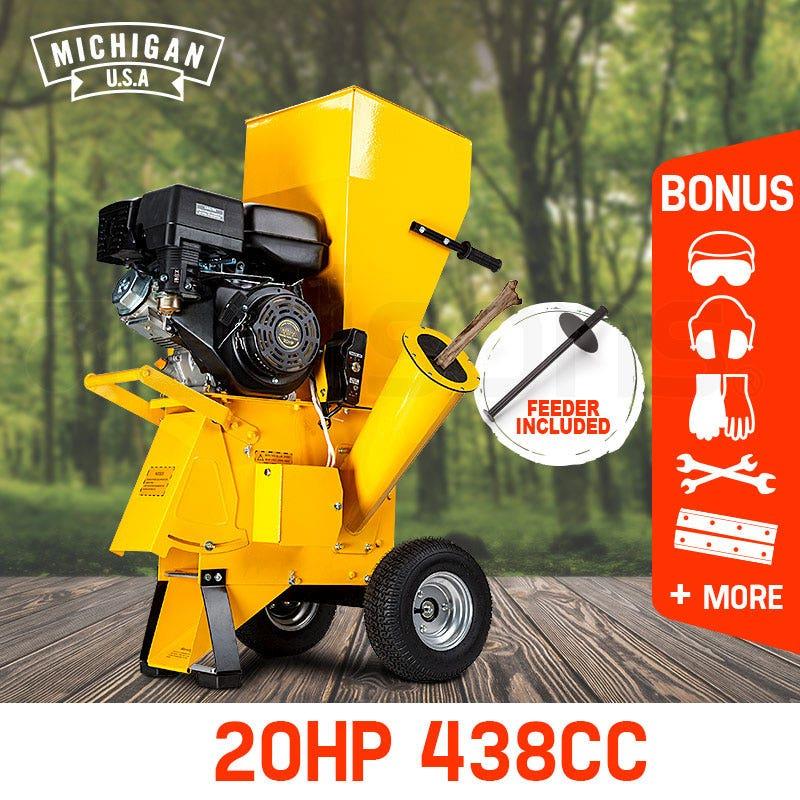 PRE-ORDER MICHIGAN Commercial Series Wood Chipper Garden Mulcher Shredder Mulch Chip