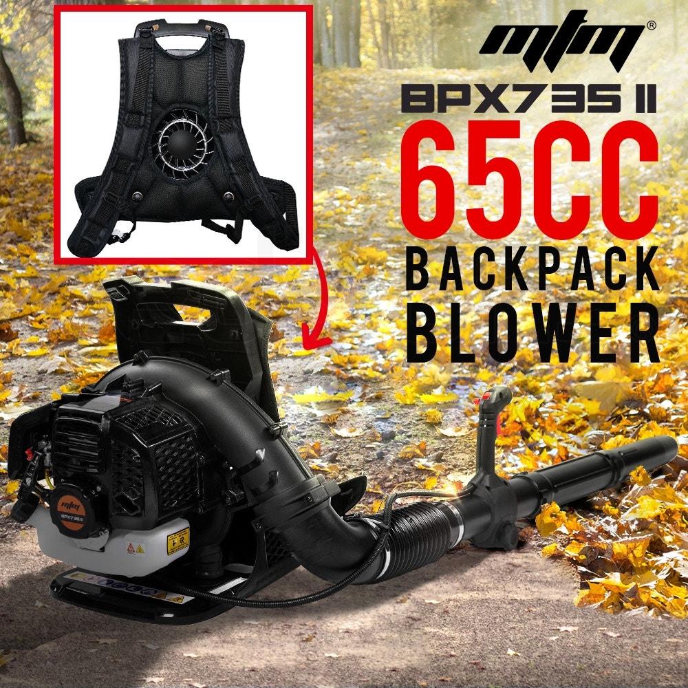 PRE-ORDER MTM 65CC Petrol Backpack Leaf Blower - Commercial 2 Stroke Garden Yard Tool Back