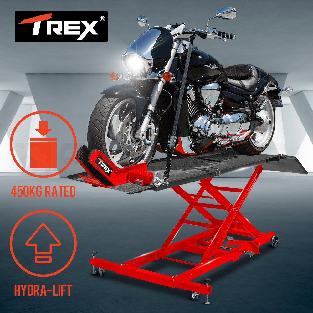 PRE-ORDER T-REX Hydraulic Motorcycle Lifter Motorbike Lift Stand Table Jack Hoist Bike