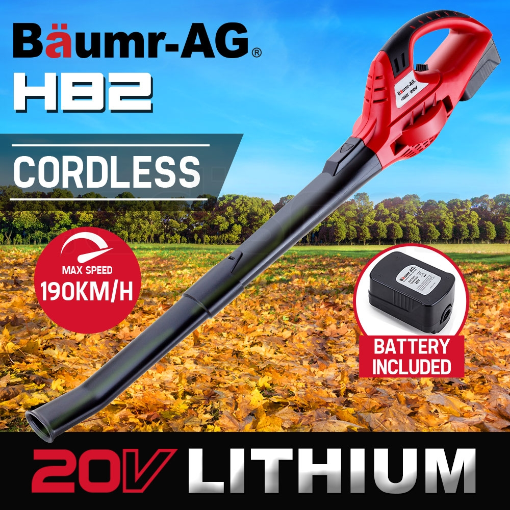 Baumr-AG 20V Lithium Cordless Leaf Blower Electric Hand-held Garden Tool