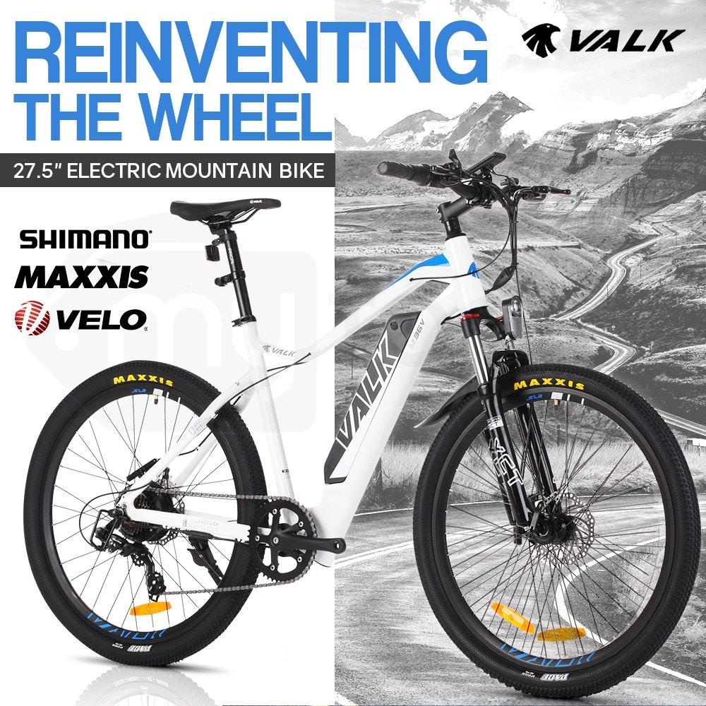VALK eMTB Maxxis Velo Shimano 36V 250W Electric Mountain Bike eBike 26