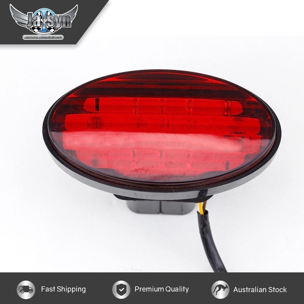 JAXSYN Novelty Towbar Trailer Hitch Cover Tow - Red Oval Brake light
