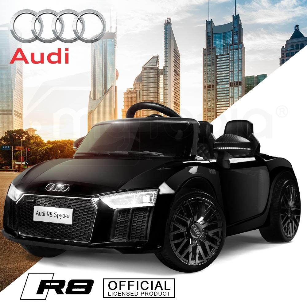 AUDI R8 SPYDER Licensed Electric Kids Ride On Car Battery Powered 12V, MP3 Player - Black
