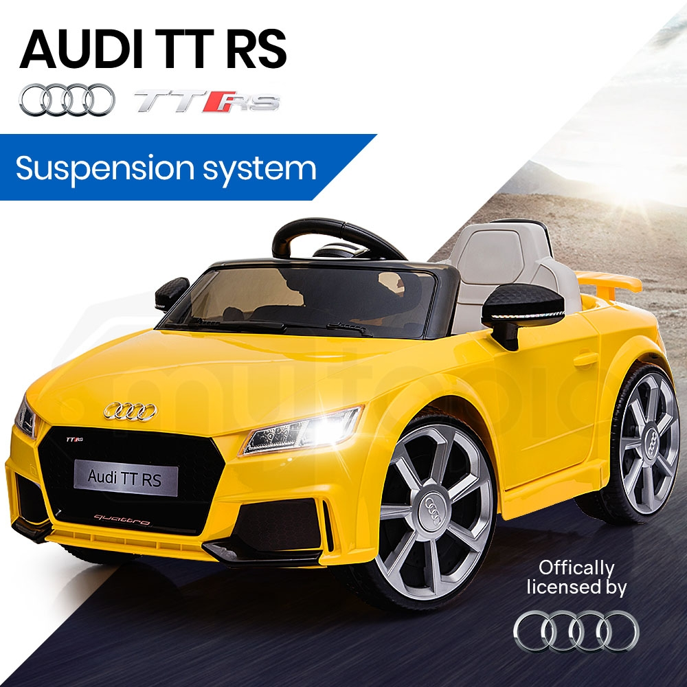 AUDI TT RS Licensed Electric Kids Ride On Car Battery Powered 12V - Yellow