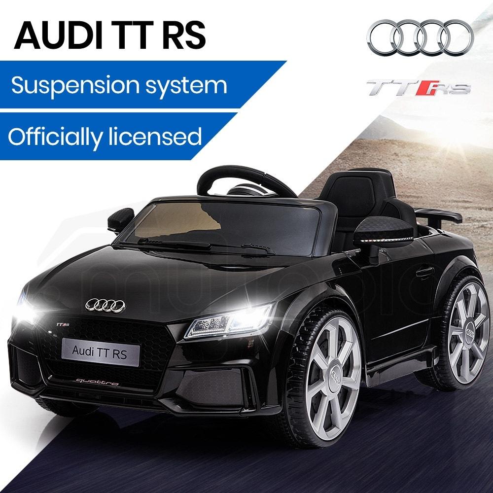 AUDI TT RS Licensed Electric Kids Ride On Car Battery Powered 12V - Black