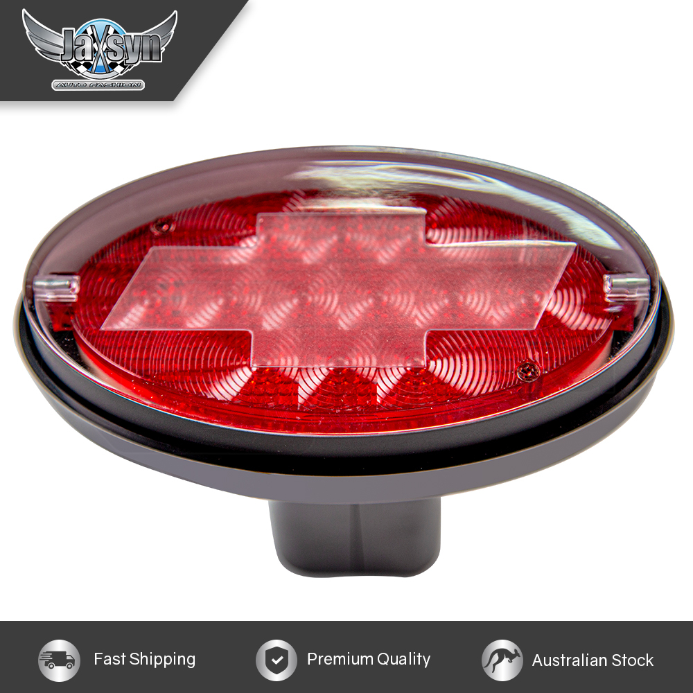 Novelty Tow-bar / Trailer Hitch Cover - Red Oval Brake Light Chevvy logo