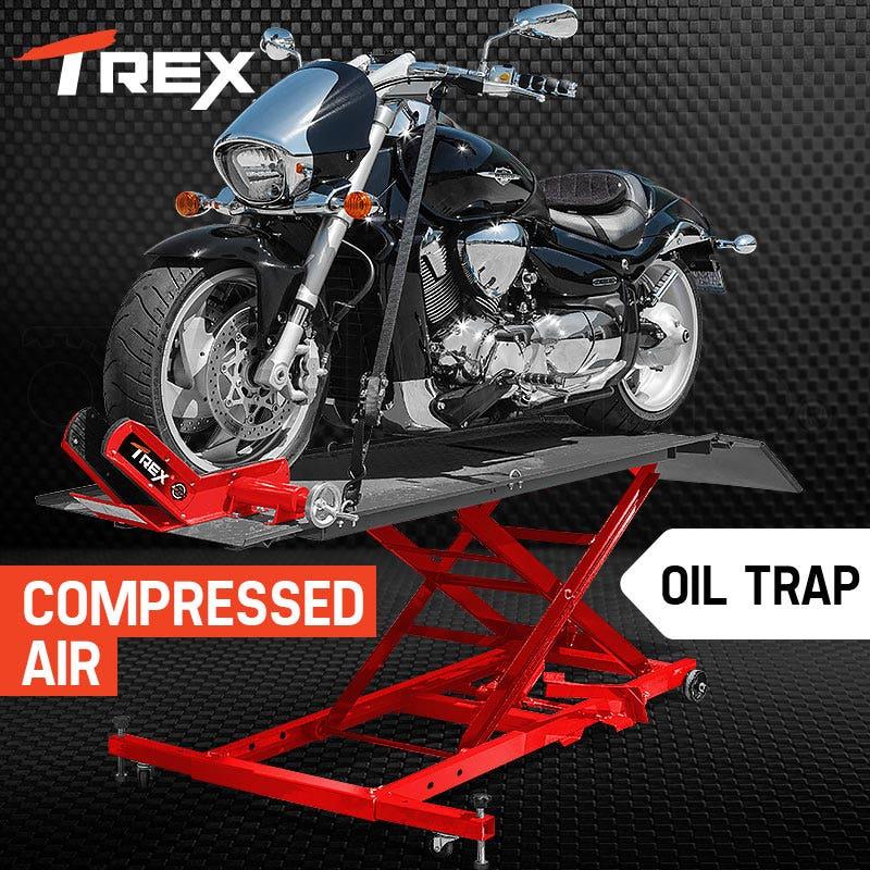 PRE-ORDER T-REX Motorcycle Lift Table Compressed Air Bike Stand Jack Hoist Motorbike