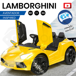 ROVO KIDS Ride-On Car LAMBORGHINI Inspired - Electric Battery Remote Yellow