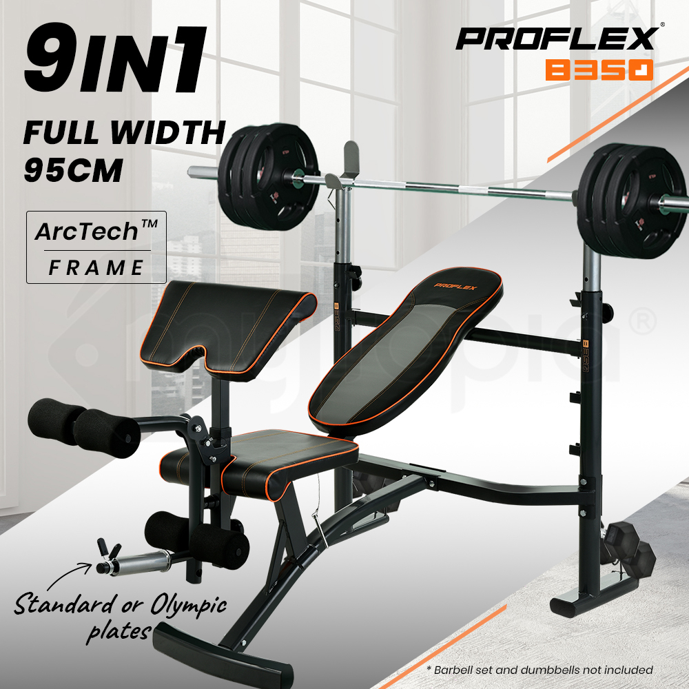 PROFLEX Adjustable Incline Weight Bench for Home Gym Fitness Training