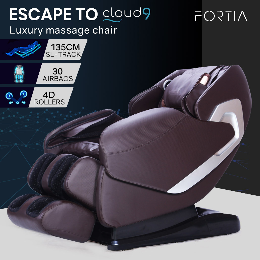 FORTIA Cloud 9 MKII Electric Massage Chair Full Body Zero Gravity with Heat and Bluetooth Bronze