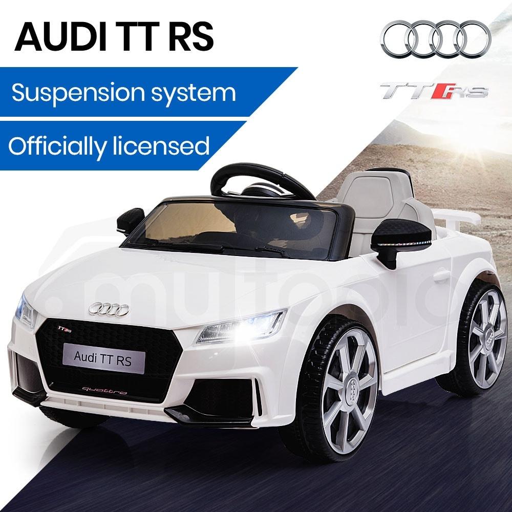 AUDI TT RS Licensed Electric Kids Ride On Car Battery Powered 12V - White