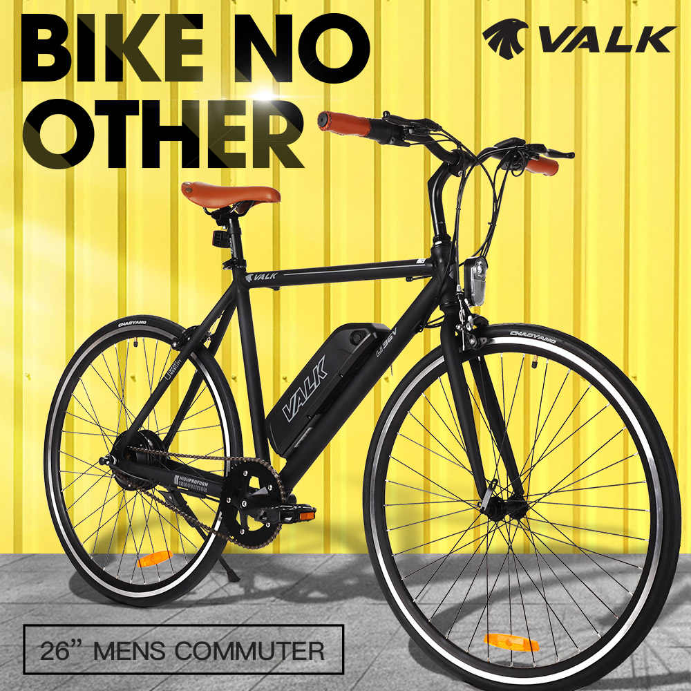 VALK Fixed Speed Electric Bike eBike Commuter Motorized Battery Fixie 36V 250W