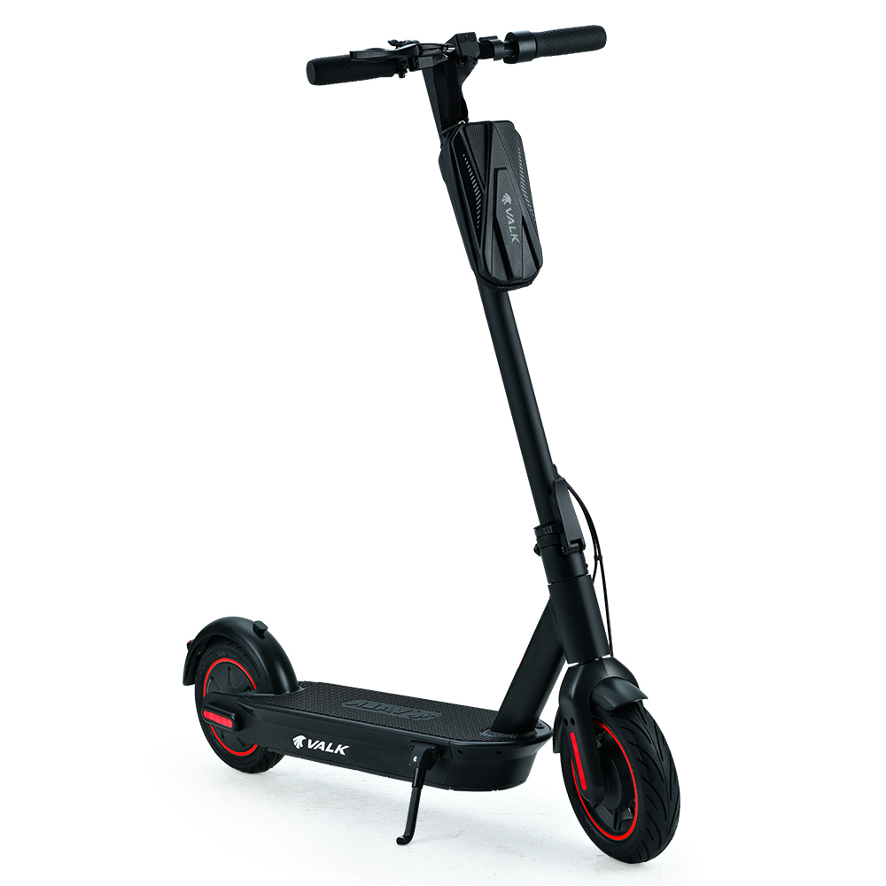 VALK Synergy 7 Plus 15Ah 400W Folding Electric Scooter for Adults, 55km Range, 30km/h, Black / Red